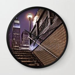 Empire State Subway - New York Photography Wall Clock