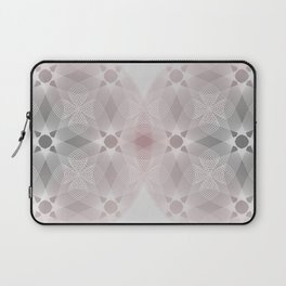 Colliding Circles in Grey and Pink Laptop Sleeve