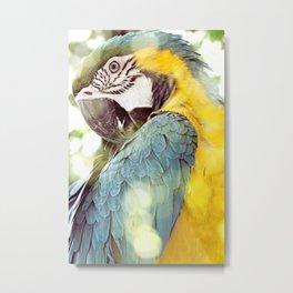 Magical Parrot - Guacamaya Variopinta - Magical Realism Metal Print