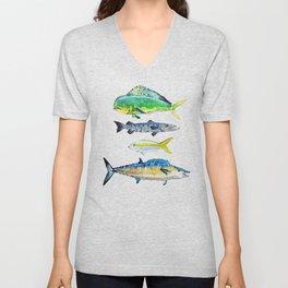 Caribbean Fish Unisex V-Neck