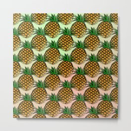 Pineapple living  Metal Print