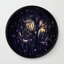 Dropping Bubbles Wall Clock