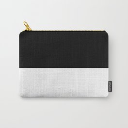 Black and white - Half and Half Split Carry-All Pouch