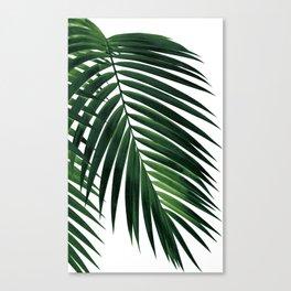 Tropical Green Palm Leaf #1 #botanical #decor #art #society6 Canvas Print