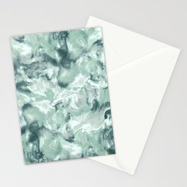 Marble Mist Green Grey Stationery Cards