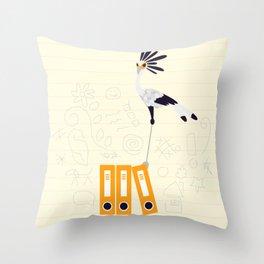 Secretary Bird - v2 Throw Pillow