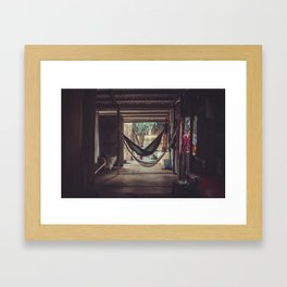 Floating village of Cambodia Framed Art Print