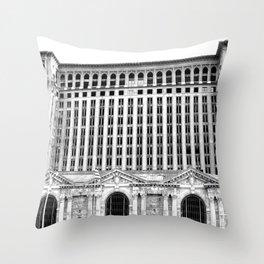 MICHIGAN CENTRAL TRAIN STATION - DETROIT Throw Pillow