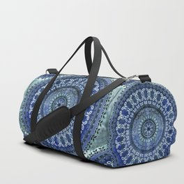 Vintage Blue Wash Mandala Duffle Bag