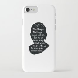 Ruth Bader Ginsburg Quote iPhone Case