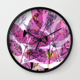 Deco Leafs Wall Clock
