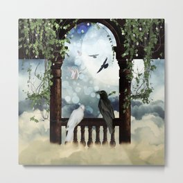 The crow and the dove Metal Print