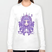pastel goth Long Sleeve T-shirts featuring Pastel Goth Princess by Miss Jediflip