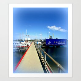 Floating Restaurant Art Print