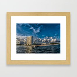 Modern Condos on Fort Lauderdale Beach Framed Art Print