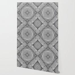 Flower shaped fractal mandala, digital artwork for creative graphic design. Colorful glowing abstrac Wallpaper