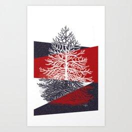 Tree Silhouette II Art Print