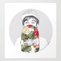coconutwishes Art Prints featuring L Skate by Coconut Wishes
