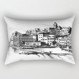 European Sea Village Rectangular Pillow