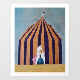 The Lady in the Tent Art Print
