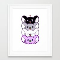 asexual Framed Art Prints featuring Secret Undercover Asexual Koaloids by Arinko