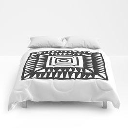 Tribal Print B&W- 02 Comforters