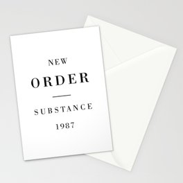 New Order Substance 1987 Stationery Cards