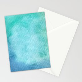 Blue Watercolor Texture Stationery Cards