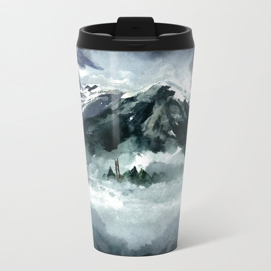 Foggy Metal Travel Mug