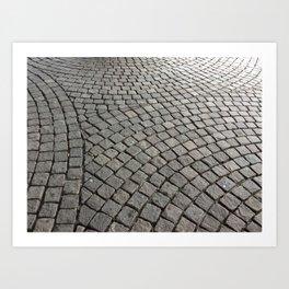 Harmony Patterns in stone blocks Art Print