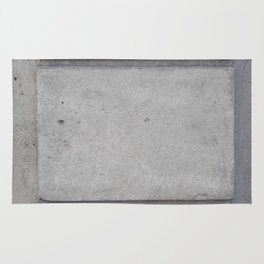 Gray large block wall rough texture Rug