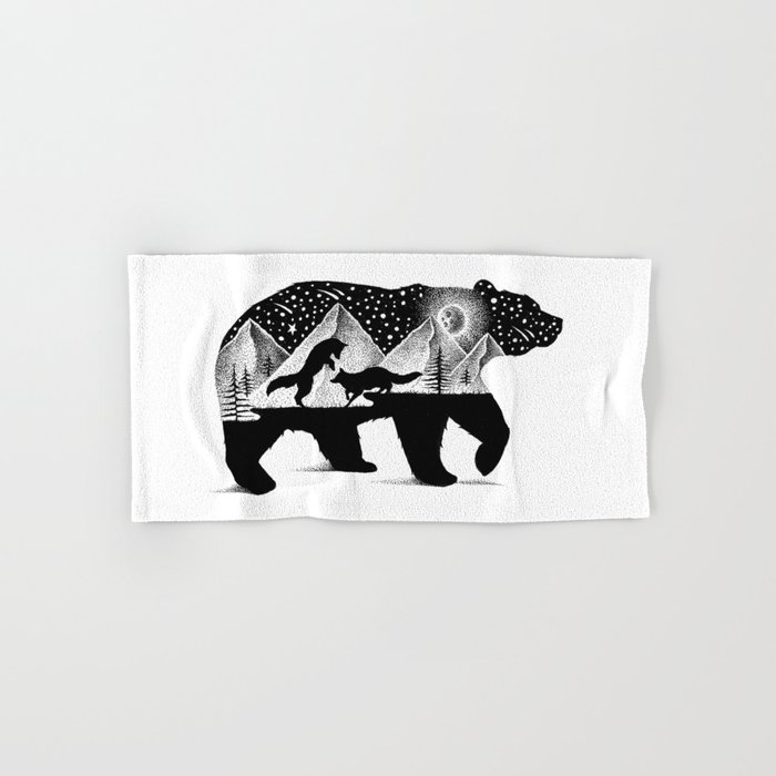 THE BEAR AND THE FOXES Hand & Bath Towel