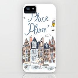 Place Plum'de Tours iPhone Case