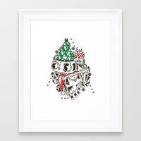 fez Framed Art Prints featuring Fez by Polypop