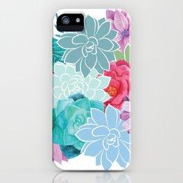 Flowers Succulents Floral Art iPhone Case