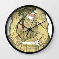 western Wall Clocks featuring Western by Lola Beltrán
