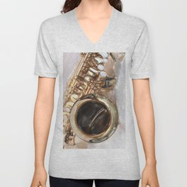 Saxophone, sound of life Unisex V-Neck