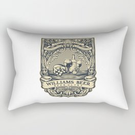 Williams Beer, art for drinkers Rectangular Pillow