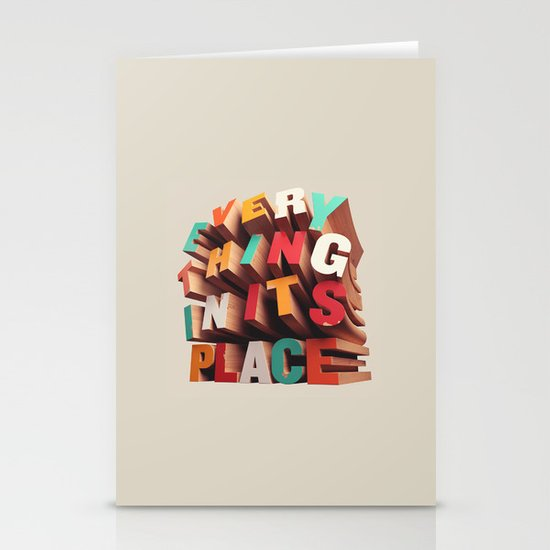 Everything In Its Place Stationery Cards