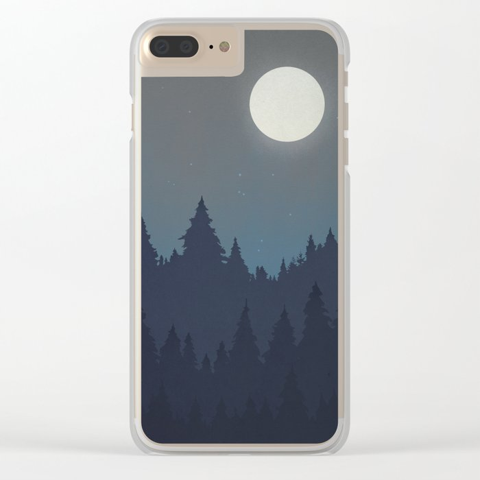 Tree Line - Grey Clear iPhone Case