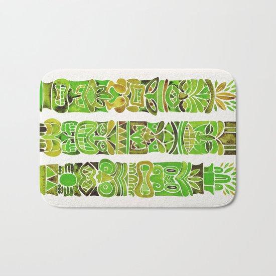 Tiki Totems – Green Bath Mat