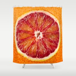 Blood Grapefruit Shower Curtain