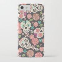 sugar skulls iPhone & iPod Cases featuring Sugar Skulls by Bohemian Gypsy Jane