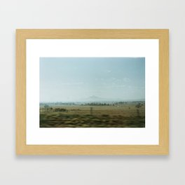 In a distance. Framed Art Print