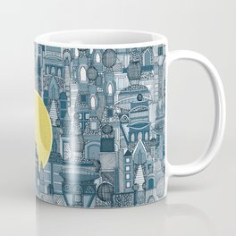 space city sun blue Coffee Mug