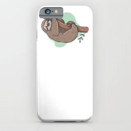 Sloth Lazy Chill Relax gift idea iPhone Case