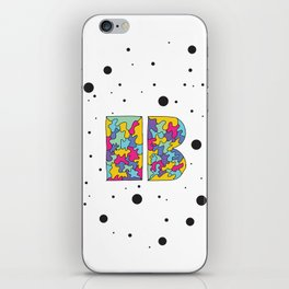 Letter B iPhone Skin