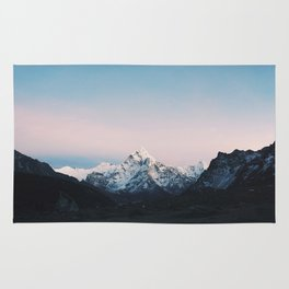 Blue & Pink Himalaya Mountains Rug