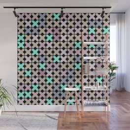 Abstract pattern . To embroider a cross . Wall Mural
