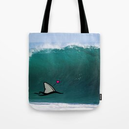 Shark-Filled Heart Tote Bag